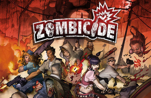 Zombicide survivors cutting a path through a zombie hoard